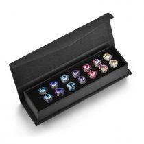 7 páras exkluzív szív fülbevaló készlet Swarovski kristályokkal (0030.)