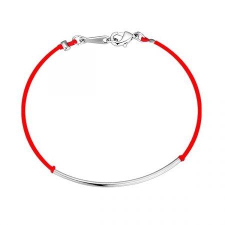 Fehérarannyal bevont kabbala karkötő vörös fonállal + AJÁNDÉK DÍSZDOBOZ (0250.)