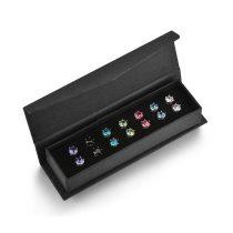 7 páras exkluzív fülbevaló készlet Swarovski kristályokkal + AJÁNDÉK DÍSZDOBOZ (0393.)