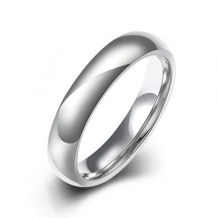 Fehérarannyal bevont női karikagyűrű #7 + AJÁNDÉK DÍSZDOBOZ (0868.)