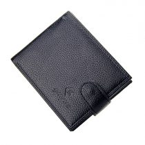 Klasszikus stílusú, fekete színű férfi pénztárca (0926.)